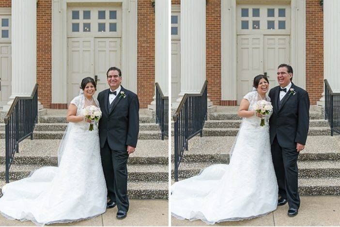 Bride and Groom at Christ the Good Shephard